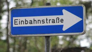 Einbahnstraße Zeller Straße Grüne Jugend