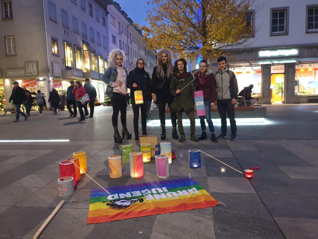 Transgender Day of Remembrance. Aktion der Grünen Jugend Würzburg